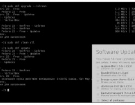 sudo dnf update. Fedora features